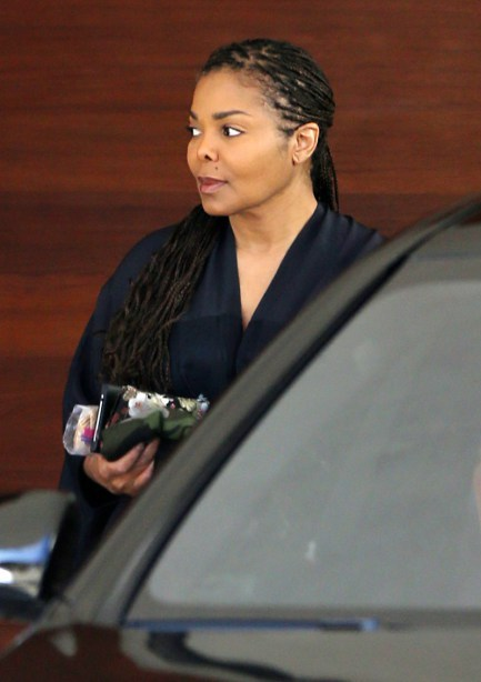 """EXCLUSIVE: **PREMIUM EXCLUSIVE RATES APPLY** Janet Jackson is spotted in Los Angeles for the first time since reports claimed she was pregnant with her first child. The singer, who is believed to be expecting a baby at 50-years-old, headed out in a car for an ice cream run with husband Wissam Al Mana on July 20, 2016. Although Janet has never confirmed the pregnancy rumours, she postponed her 'Unbreakable' tour in April 2016 because she was """"planning"""" her family with her husband. Pictured: Janet Jackson Ref: SPL1320892  280716   EXCLUSIVE Picture by: Clint Brewer/London Ent/Splash Splash News and Pictures Los Angeles:310-821-2666 New York:212-619-2666 London:870-934-2666 photodesk@splashnews.com"""